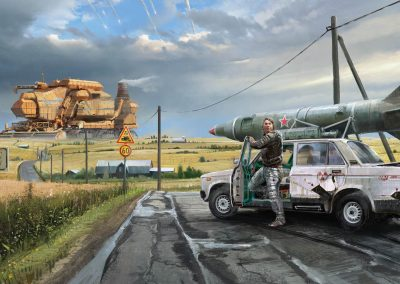 From car phones to massive combine harvesters, the Soviet future of Star Wreck boasts nuclear powered machines of all sizes